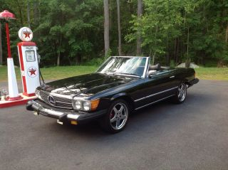 1976 Mercedes Benz Sl 450 2 Door Convertible Roadster Triple Black photo