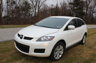 White Mazda Cx - 7 2007 100k Fwd Tinted Goood Condition photo