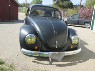 Black Vw German Look 1970 Volkswagen Bug Beetle Modified photo