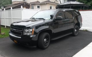 2007 Chevy Tahoe Ppv (police Pursuit Vehicle) Black 5.  3 Flex Fuel 2wd photo