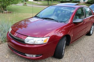 2004 Saturn Ion 3 Sedan Berry Red,  Spoiler, ,  Premium Sound,  Loaded photo