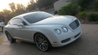 2005 White Bentley Continental Gt photo