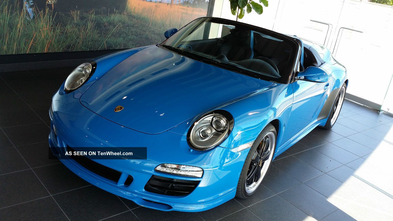 2011 Porsche 911 Speedster Convertible Pure Blue
