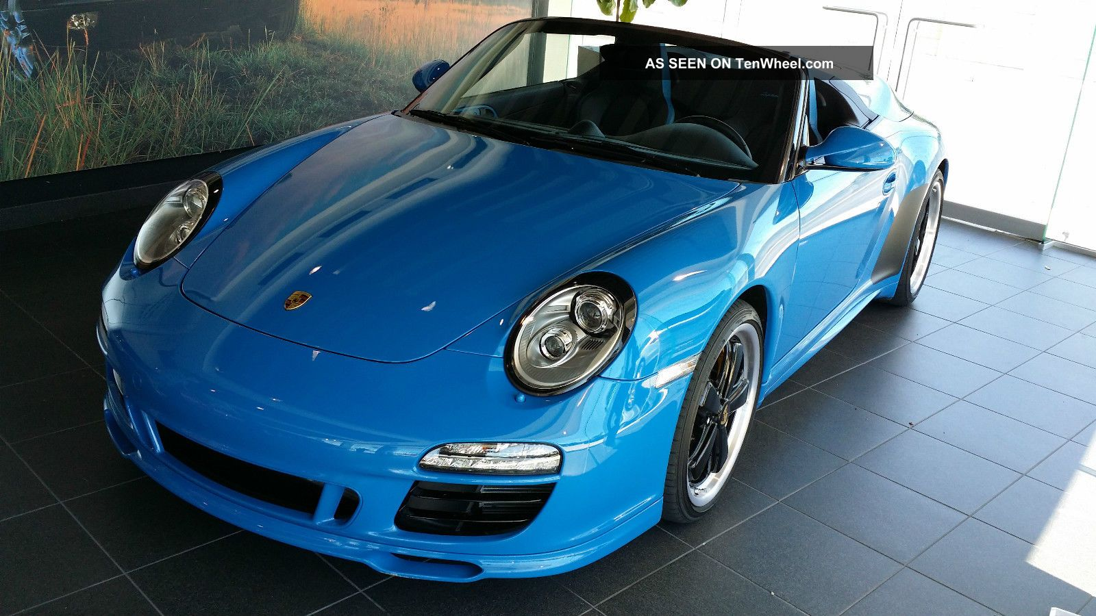 2011 porsche 911 speedster convertible pure blue. Black Bedroom Furniture Sets. Home Design Ideas