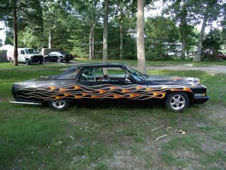 1972 Caddy 2 Door Deville - Full Custom - Hot Rod Black With Flames. photo