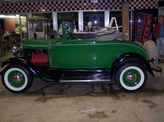 1929 Model A Cabriolet With Flat Head Survivor - Roddedin 1953 All Steel photo