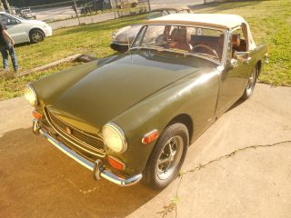 1973 Mg Midget Green / Tan In Very photo