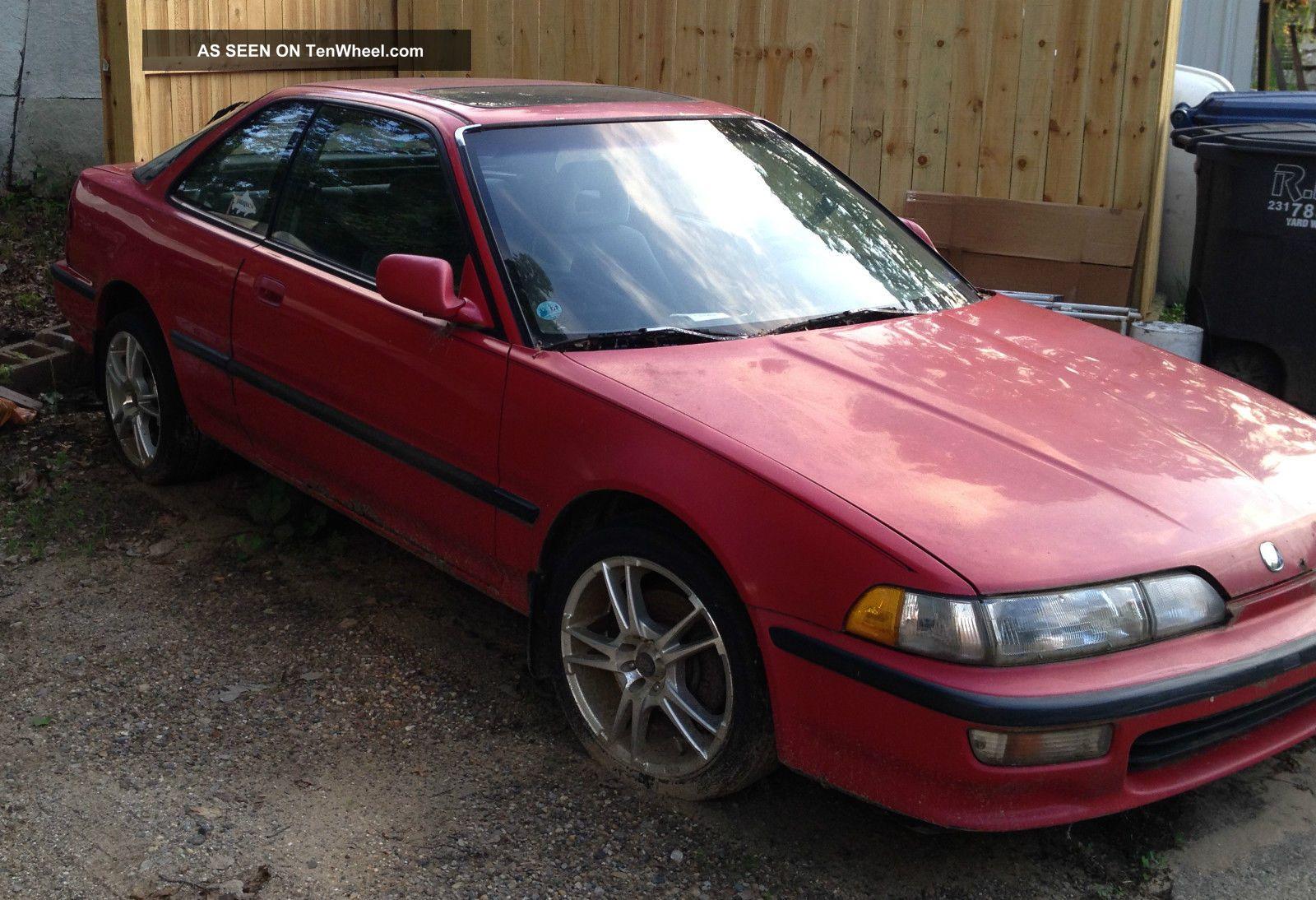 Acura Integra Speed Manual Red Fwd Hatchback L Inline Cylinder Lgw