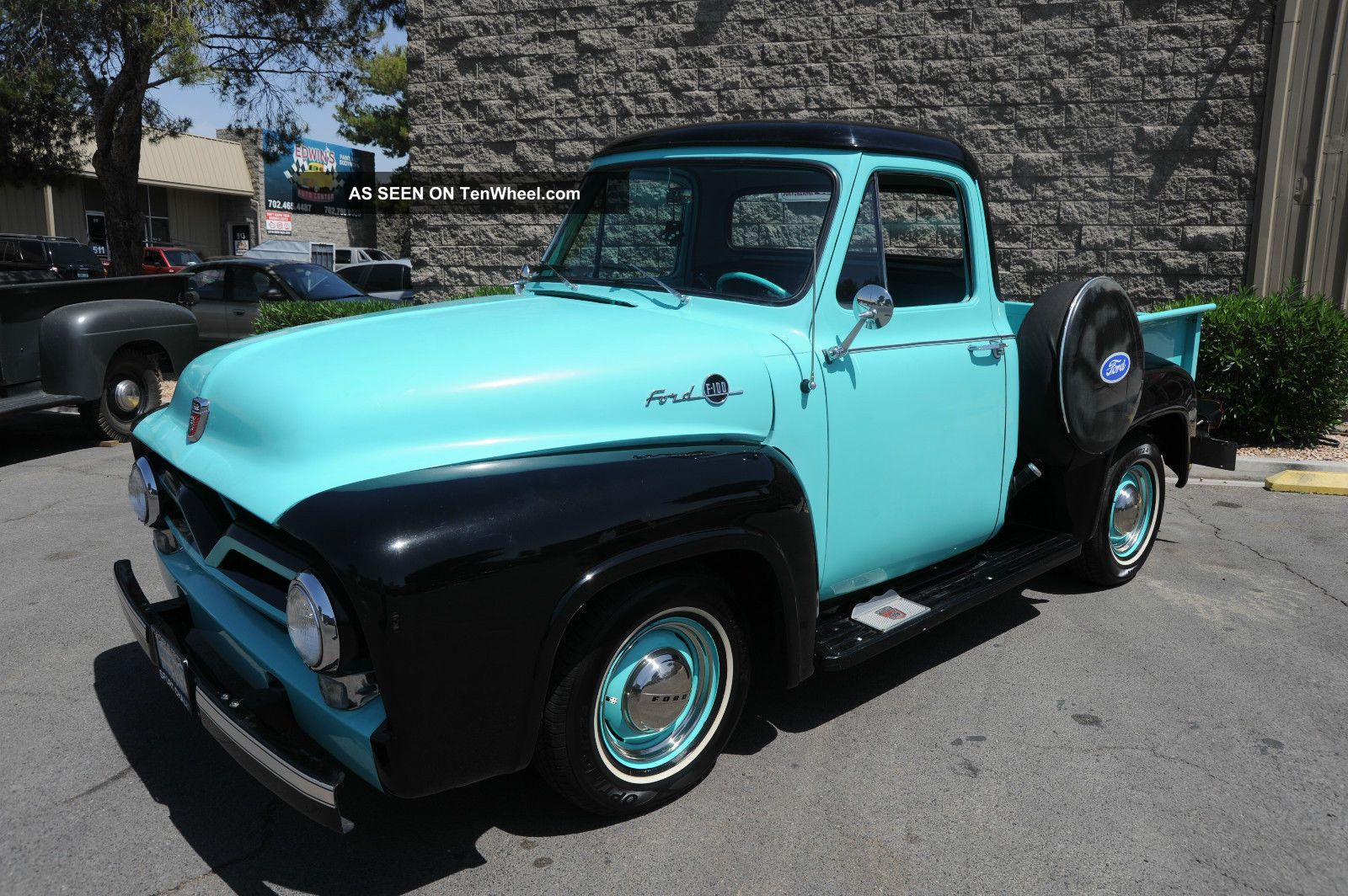 1955 Ford F100 Cool Resto Mod Vintage Truck With V8 Auto Digital Side Dash Etc