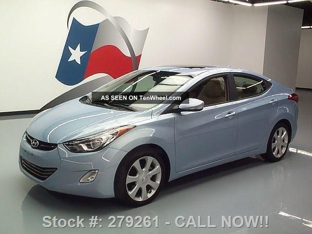 2012 Hyundai Elantra Limited Htd 20k Mi Texas Direct Auto Elantra photo