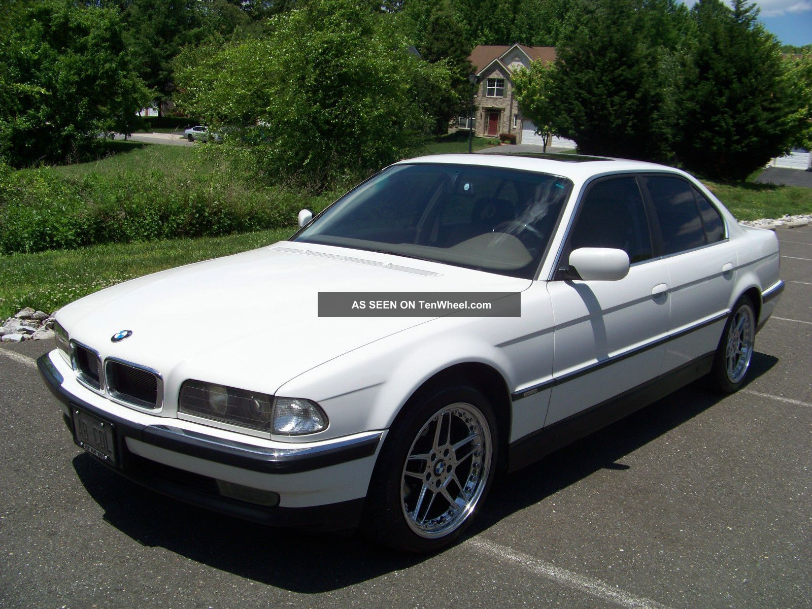 gorgeous head turning 1998 white bmw 740i. Black Bedroom Furniture Sets. Home Design Ideas