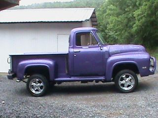 1955 Ford F - 100 On A 1998 Ford Explorer All Wheel Drive Frame 5.  0 Fuel Injected photo