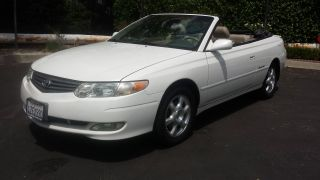 2003 Toyota Solara Sle Convertible Pearl White With Interior photo