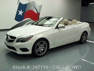 2014 Mercedes - Benz E350 Convertible P2 6k Texas Direct Auto photo