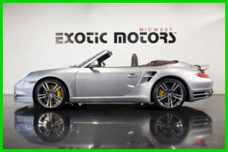 2011 911 Turbo S Cabriolet,  Gt Silver On Cocoa,  Msrp $184,  450,  Only $119,  888 photo