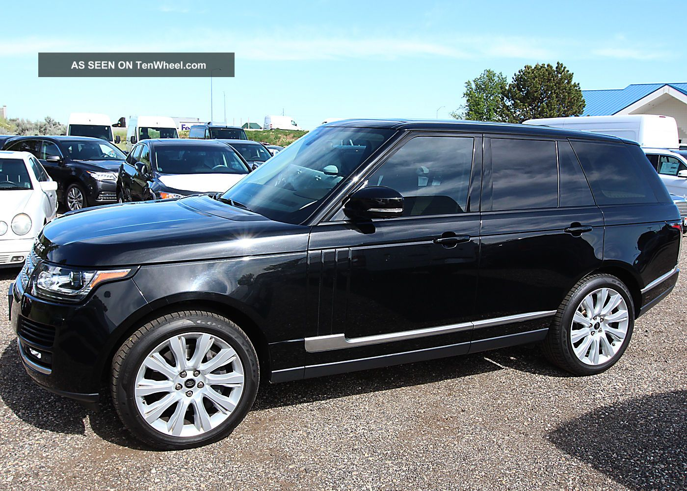 Immaculate 2013 Land Rover Range Rover Supercharged Suv 2012 2014 Santori Black Range Rover photo