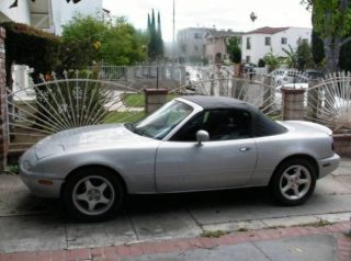 Silver Stone Metallic 1990 Mazda Miata Mx5 Convertable Automatic Ac photo