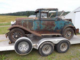 Rare Barn Find 1929 Desoto Sport Coupe Restoration Project photo