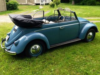 1960 Vw Volkswagen Beetle Convertible Classic photo