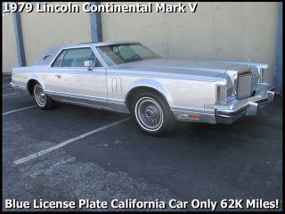 Classic 1979 Lincoln Continental Mark V Blue Plate California Car photo