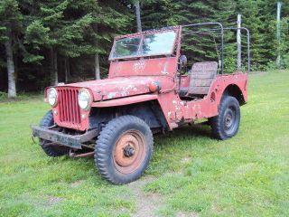 1948 Willys Cj2a Farm Jeep photo