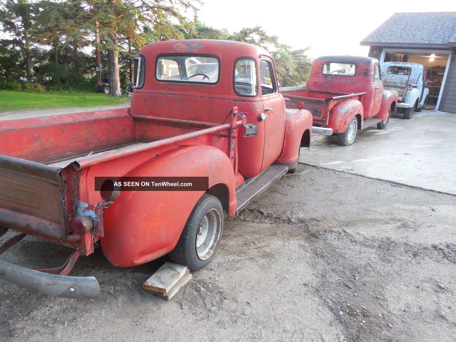 1949 Gmc Pickup With Chevrolet Tailgate Corner Window Half Ton