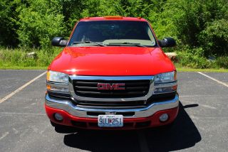2003 Gmc 2500 Hd Ext Cab Sierra Sle 4x4 8.  1 Engine Red 6spd Man Transmission photo