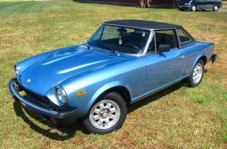 1981 Fiat Spider 2000 Pininfarina Hardtop,  Automatic 1 Of 300 photo