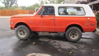1971 Chevy Blazer,  Rare Hugger Orange,  A / C,  Cst,  99% Rust,  Paint photo