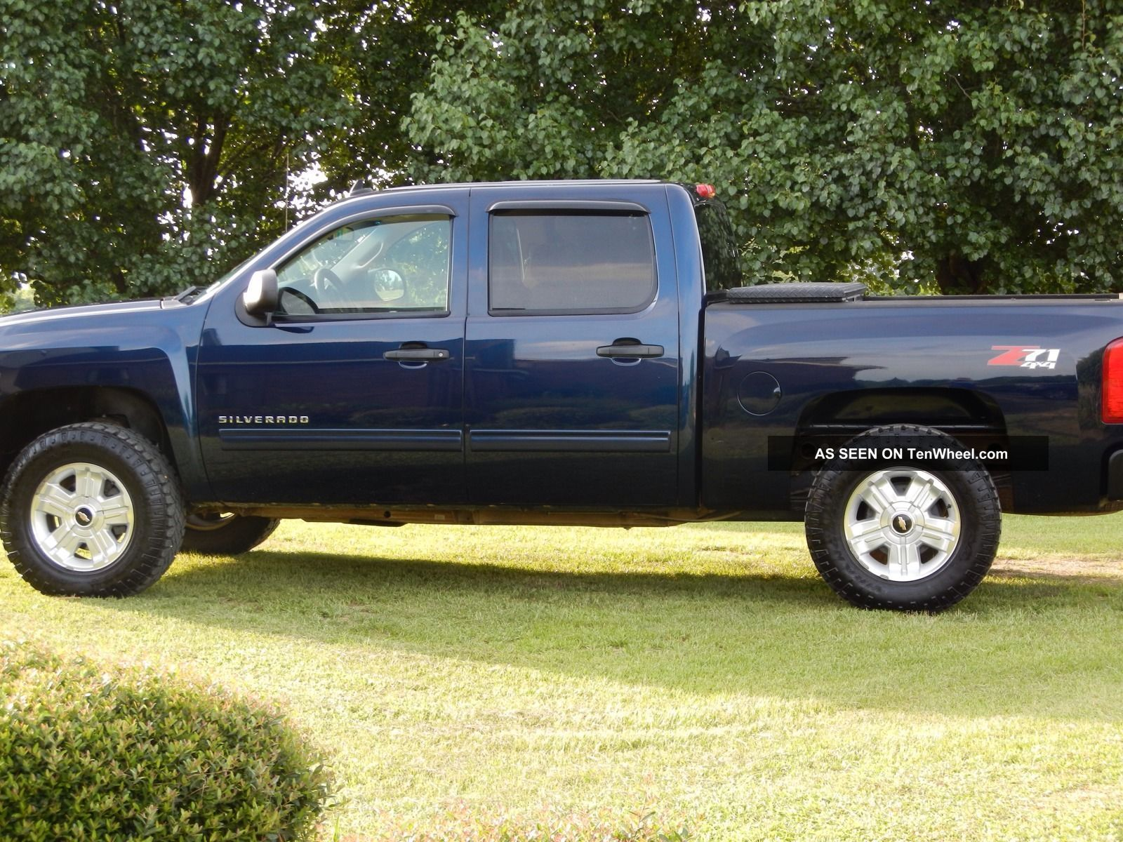 34928 2011 chevrolet silverado 1500 z71 lt crew 4   door 5   3l blue 4x4 on dodge ram 1500 air conditioning