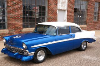 1956 Chevrolet Bel Air Tri Five 496 Big Block 2 Door Post 150 210 Gasser Hot Rod photo