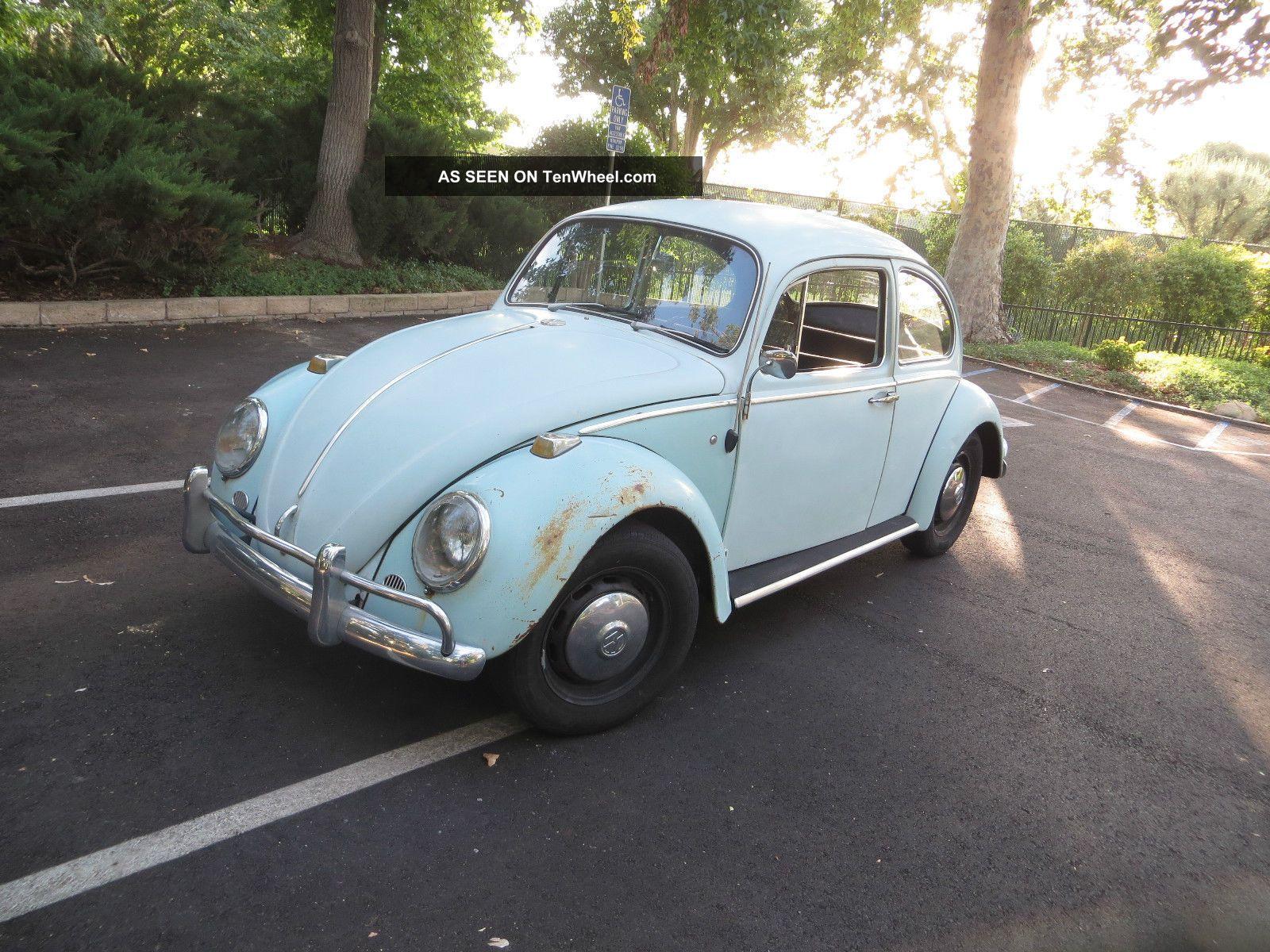 Classic Vw Beetle Bug Bahama Blue Coupe 1966 Classic Beetle - Classic photo