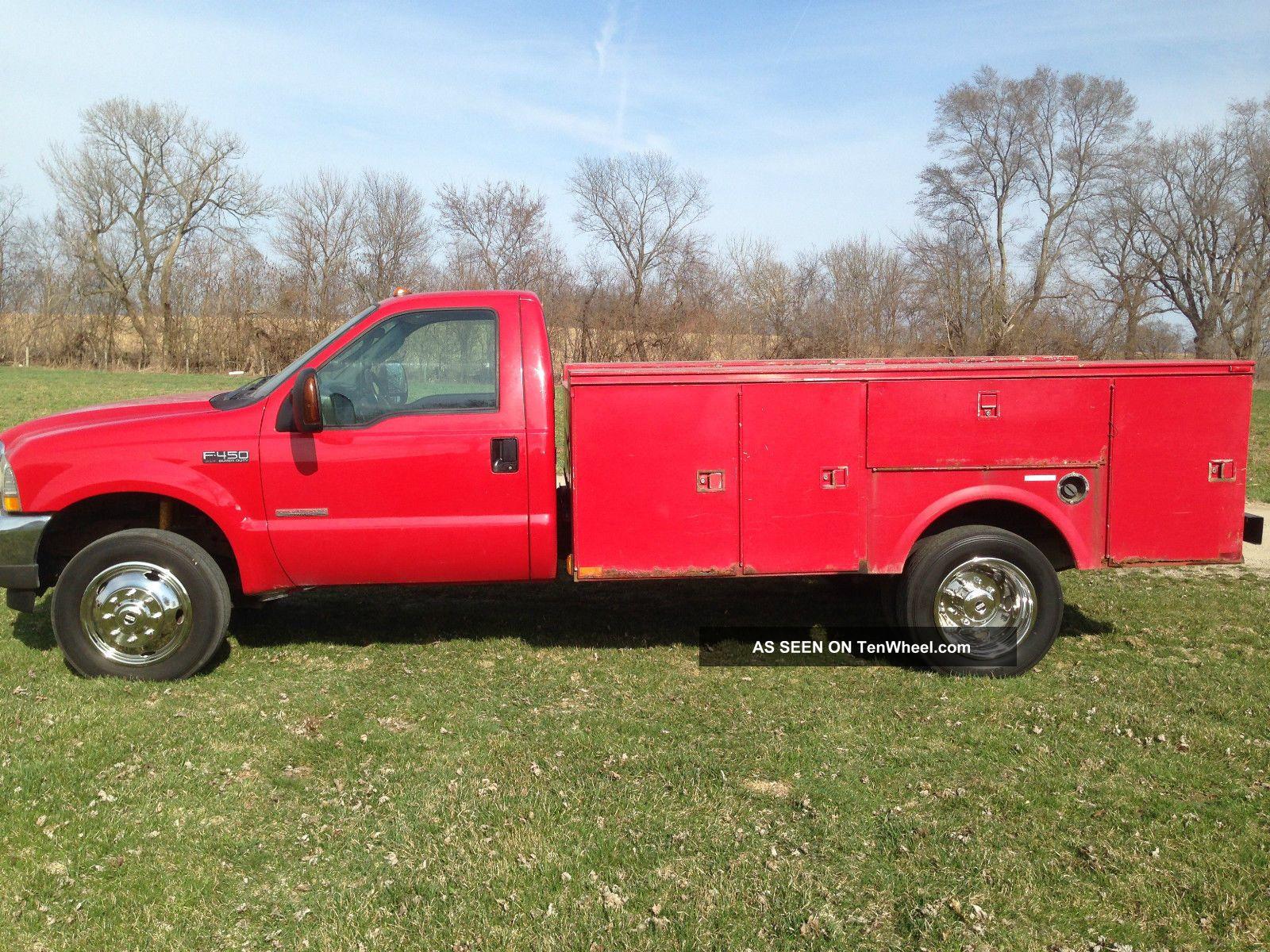 2004 ford f 450 superduty 4x4 turbo diesel service truck. Black Bedroom Furniture Sets. Home Design Ideas