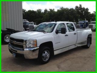 2009 Chevrolet Silverado Dually 6.  0l Gas White Crew Cab Work Truck Chevy photo