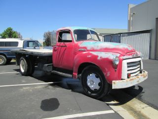1948 Gmc 1 1 / 2 Ton Flatbed,  Calif.  Winery.  Survivor,  Awesome Patina, photo