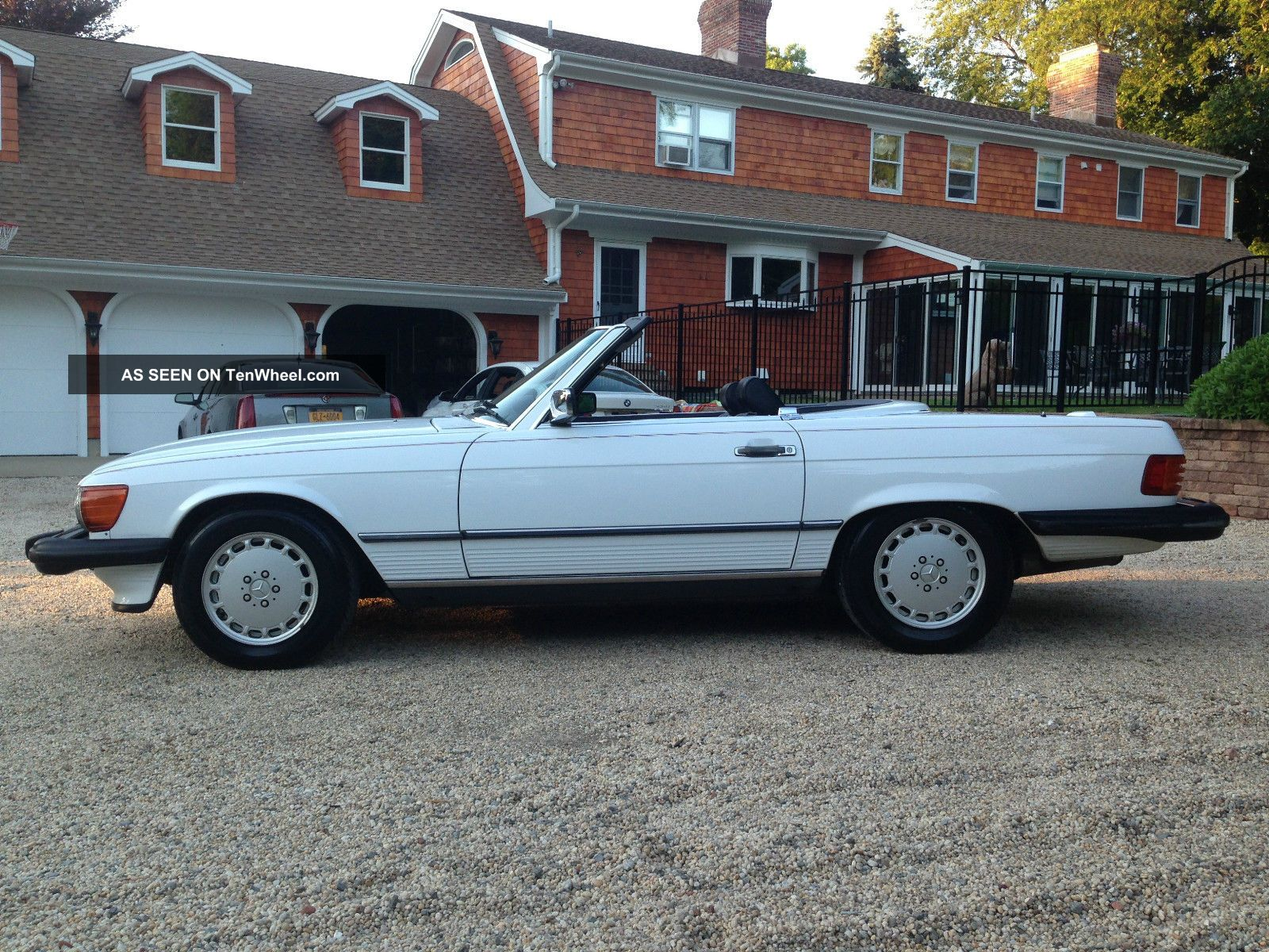 1989 560sl Convertible Last Year Of Production White 2 Tops SL-Class photo
