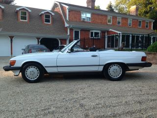 1989 560sl Convertible Last Year Of Production White 2 Tops photo