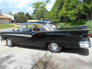 1957 Ford Fairlane 500,  Two Door Hardtop,  Black With Burgundy Interior photo