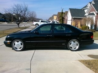 1999 Mercedes E 55 Black On Black.  Rare,  Fast photo
