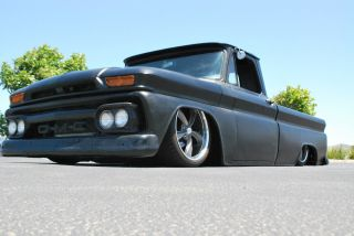 Custom 1966 Gmc C10 Swb Porterbuilt Patina / Rat / Low Rod Bagged Bodied Accuair photo