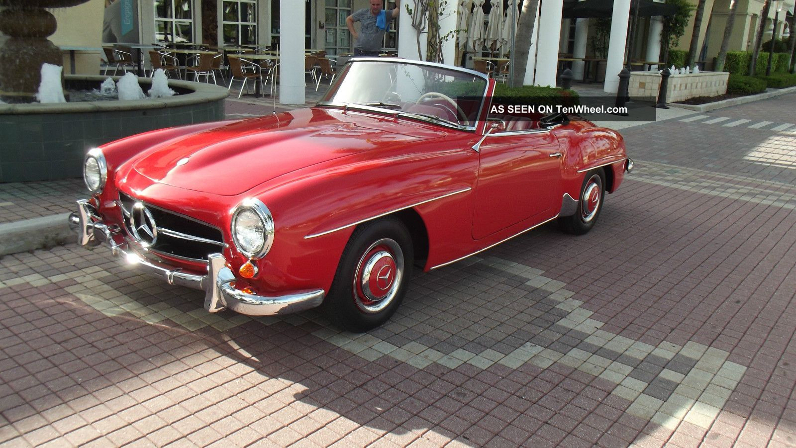 1960 mercedes benz 190 sl red with red interior condition for 1960 mercedes benz