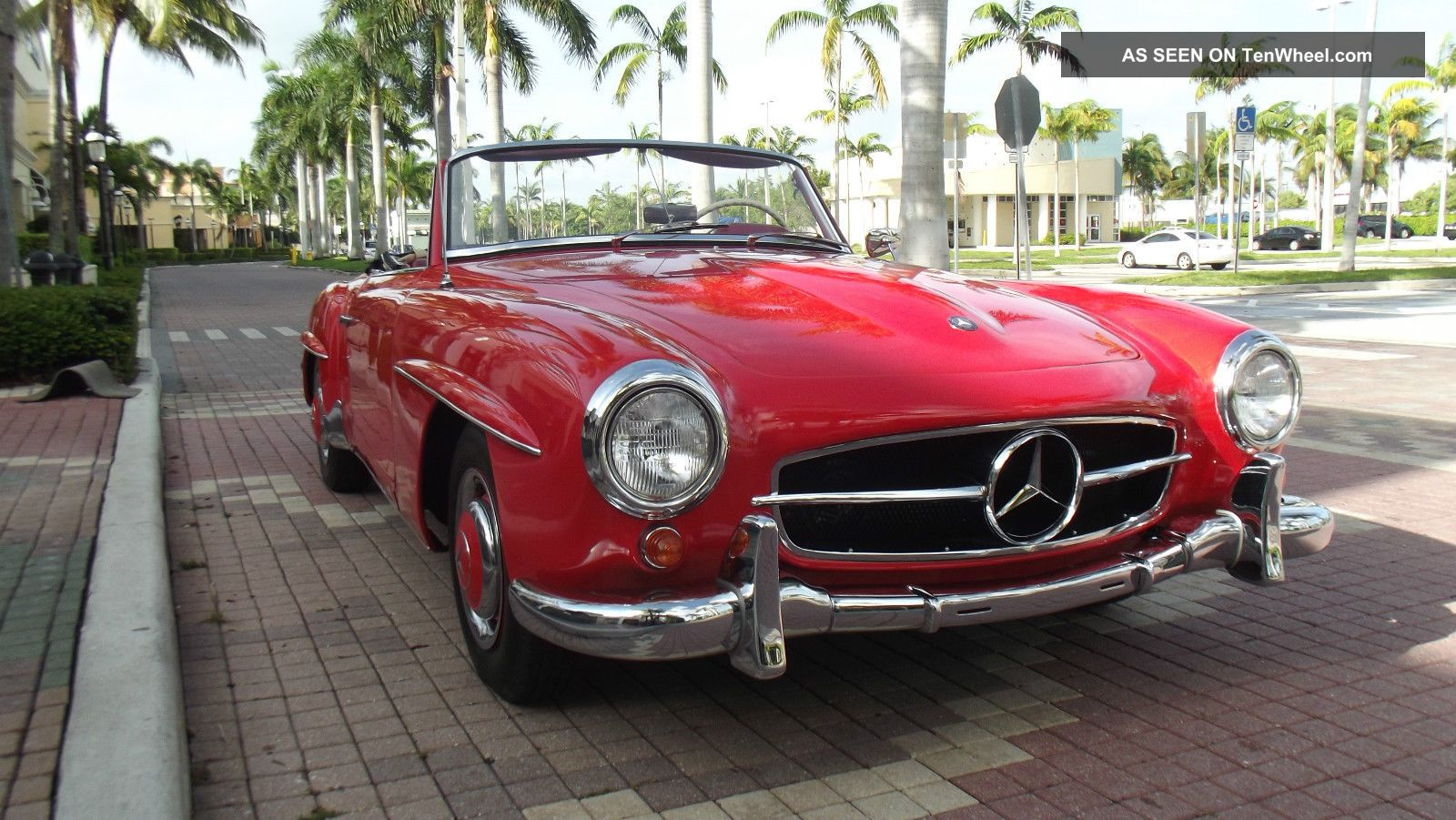 1960 Mercedes Benz 190 Sl.  Red With Red Interior.  Condition. SL-Class photo