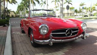 1960 Mercedes Benz 190 Sl.  Red With Red Interior.  Condition. photo