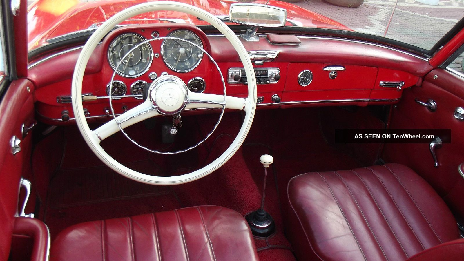 1960 Mercedes Benz 190 Sl Red With Red Interior Condition