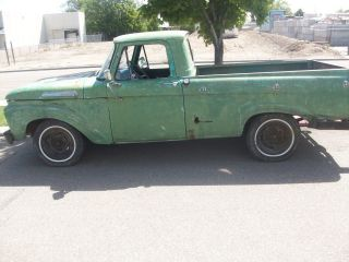 1961 Ford F100 Rare Unibody Pickup Rat Rod Project V8 photo