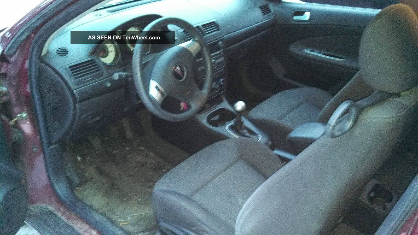 2008 Pontiac G5 Maroon 2 Door Coupe Standard Shift