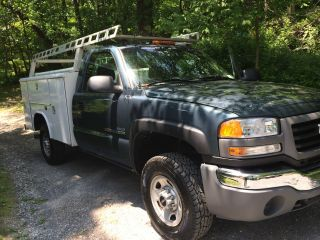 2007 Gmc Sierra 2500 Duramax Diesel Work Truck Reading Utility Body 4x4 Allison photo