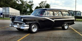 1956 Ford Country Sedan Station Wagon,  Hot Rod,  Rat Rod,  Surf Wagon, photo
