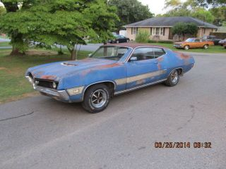 Rare Barn Find Here In Ga 1970 Torino Gt All With Build Sheet photo