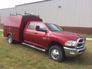 2013 Dodge Ram 3500 Crew Cab 4x4 W / Knapheide Kc 108 Van Body photo